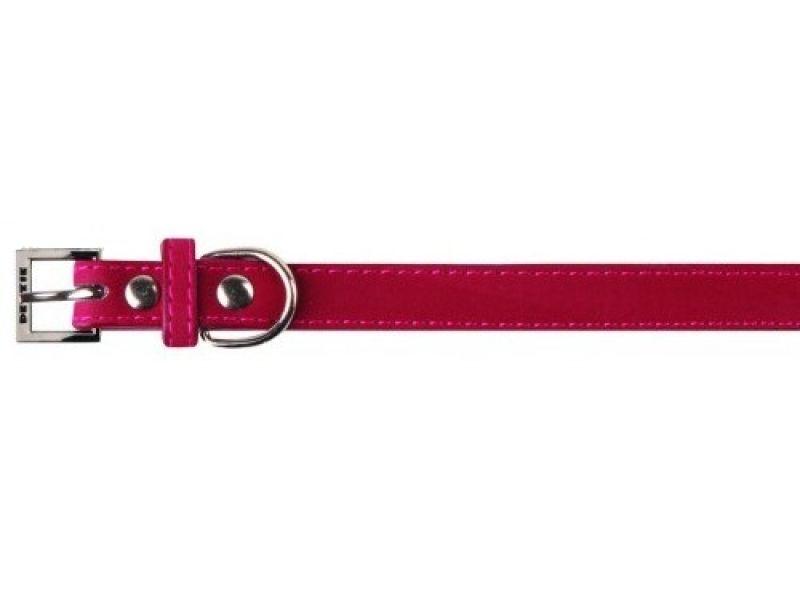 Dezzie Ошейник для собак, 1*23-28 см, малиновый, бархат (S) - Фото