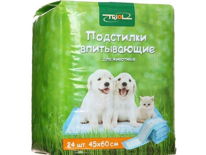 Triol Подстилки впитывающие для животных, 24 шт  - Фото