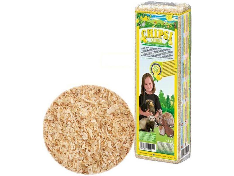 Cat's Best Chipsi Super Citrus Опилки с цитрусовым ароматом, 1 кг - Фото