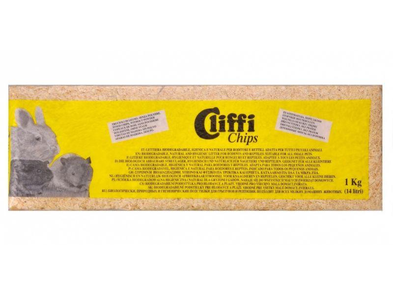Cliffi Опилки для грызунов и рептилий (Chips), 14 л, 1 кг - Фото