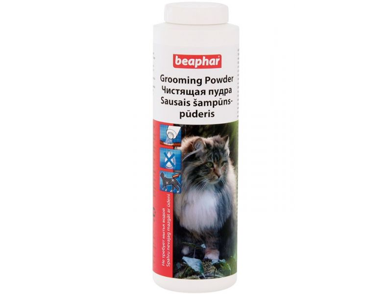 Beaphar Чистящая пудра для кошек (Grooming Powder), 150 гр - Фото