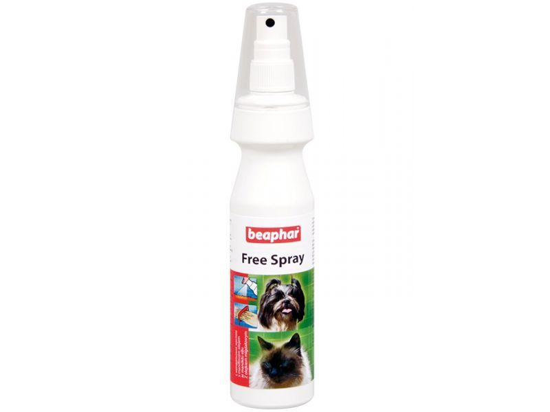 Beaphar Спрей с миндальным маслом от колтунов, для кошек и cобак (Free Spray), 150 мл - Фото