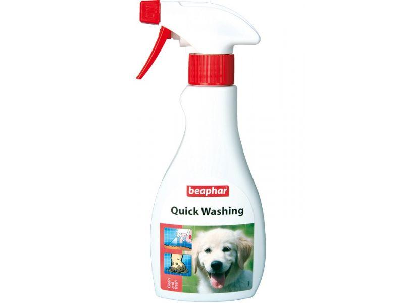 Beaphar Экспресс-шампунь для быстрого очищения кожи и шерсти собак и кошек (Quick Washing), 250 мл - Фото