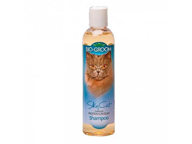 BioGroom Шампунь Протеин/Ланолин 1 к 4 для кошек (Silky Cat Shampoo), 236 мл - Фото