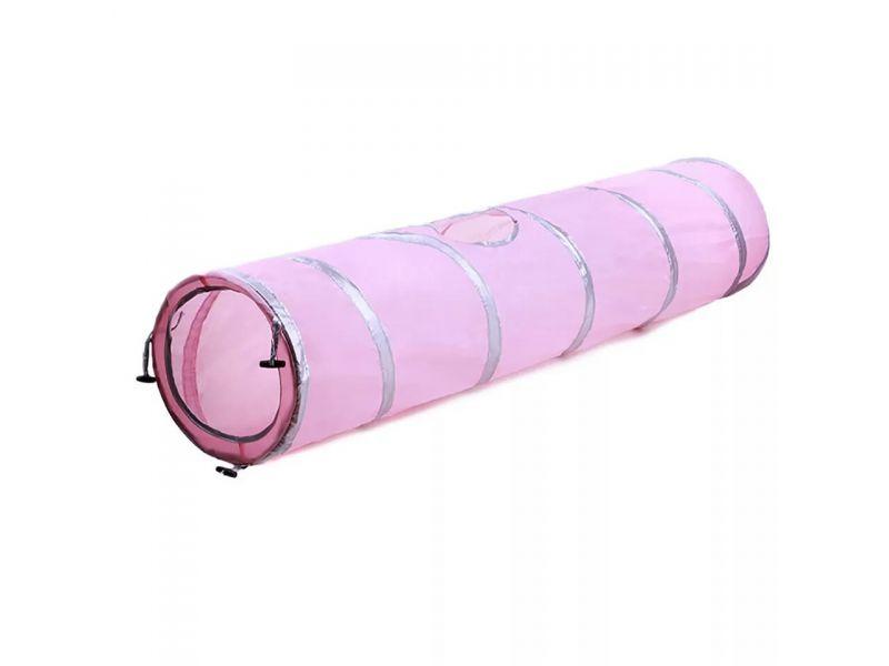 Nice Cat Тоннель для кошек, нейлон, розовый, 25*120 см     - Фото