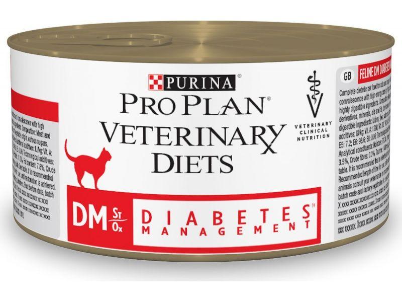 Purina Pro Plan Ветеринарные консервы при ДИАБЕТЕ, для кошек  (DM), 195 г - Фото