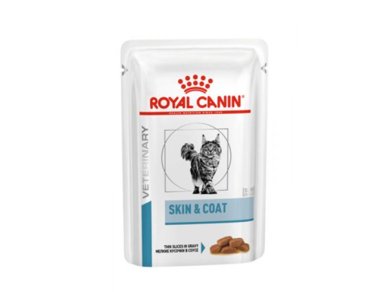 Royal Canin Паучи для стерилизованных кошек с повышенной чувствительностью кожи (Skin and Coat), 85 гр - Фото