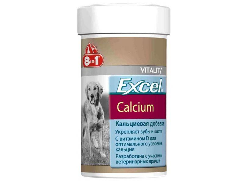 Витамины 8 в 1 с КАЛЬЦИЕЙ, ФОСФОРОМ и витамином D для щенков и собак (Calcium), 155 шт. - Фото