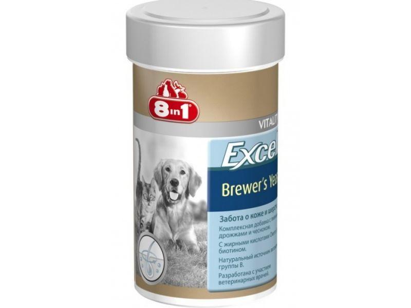 Комплексная добавка 8 в 1 с ПИВНЫМИ ДРОЖЖАМИ & ЧЕСНОКОМ для собак (Excel Brewers Yeast), 140 шт. - Фото