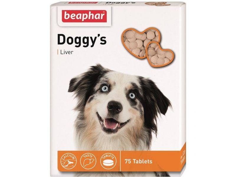 Beaphar Витамины со вкусом ПЕЧЕНИ, для собак  (Doggy`s+Liver), 75 шт. - Фото
