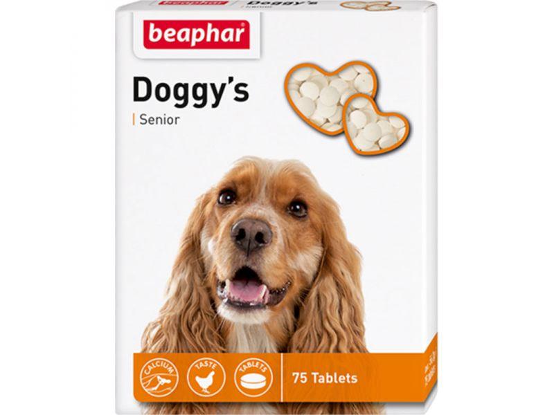 Beaphar Витамины для ПОЖИЛЫХ собак (Senior Doggy's), 75 шт. - Фото