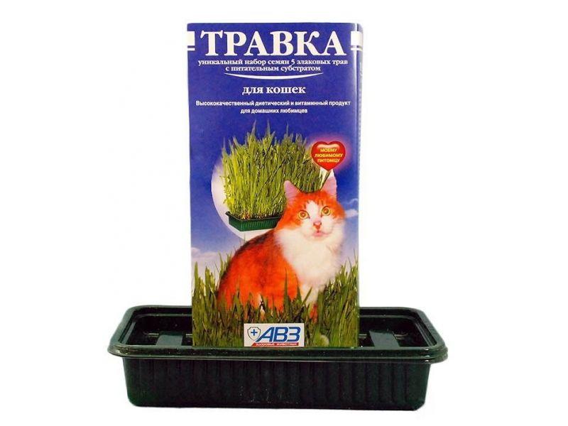 Агроветзащита  Травка для кошек (лоток с питательным субстратом), 80 гр - Фото