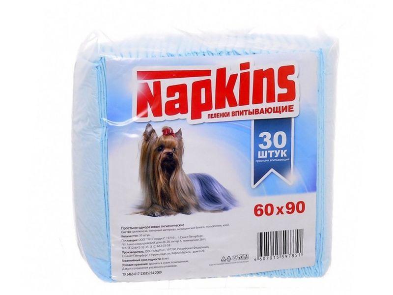 Napkins Пеленки впитывающие для животных, 60*90 см  - Фото