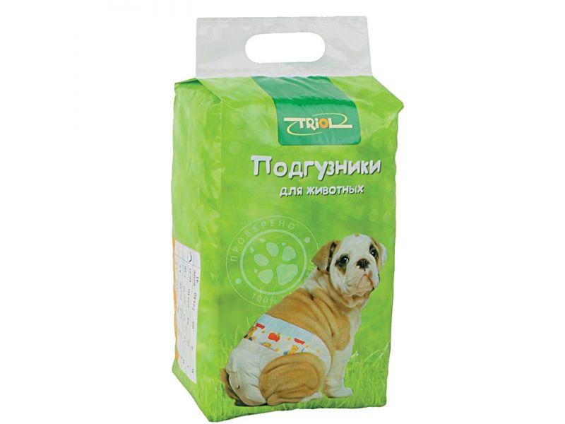 Triol Подгузники для животных весом 2-4 кг (XS), 22 шт. - Фото
