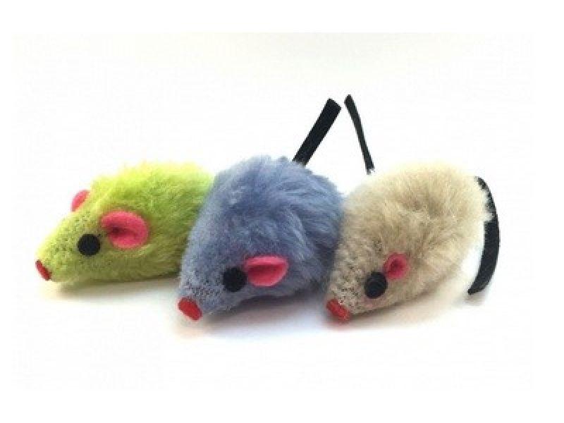 """Triol Игрушка """"Мышка"""" цветная, для кошек, плюш, 5 см, 1 шт.   - Фото"""