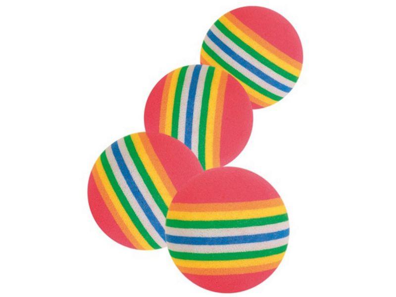 """Trixie Набор """"Радужные мячи"""" для кошек, резина, 3,5 см, 4 шт. (4097) - Фото"""