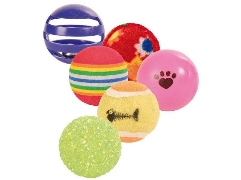 Trixie Набор мячиков для кошек, 4 см, 6 шт. (4523) - Фото