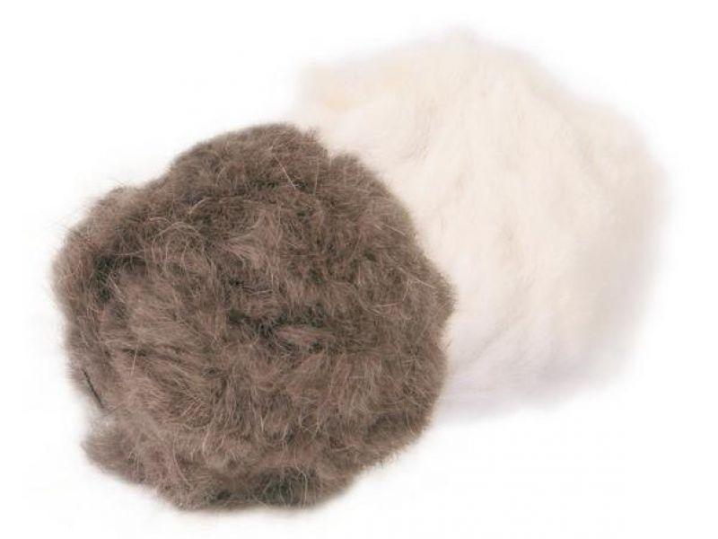 Trixie Набор меховых мячиков с колокольчиком и кошачьей мятой, для кошек, 3 см, 2 шт. (4127) - Фото