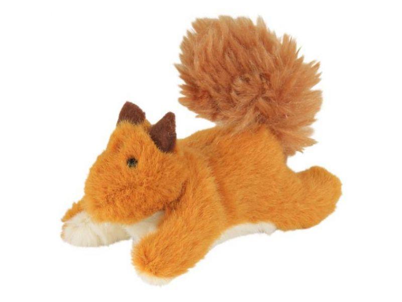 """Игрушка Trixie для кошек - """"Белка"""" меховая, с ароматом кошачьей мяты (45768), 9 см - Фото"""