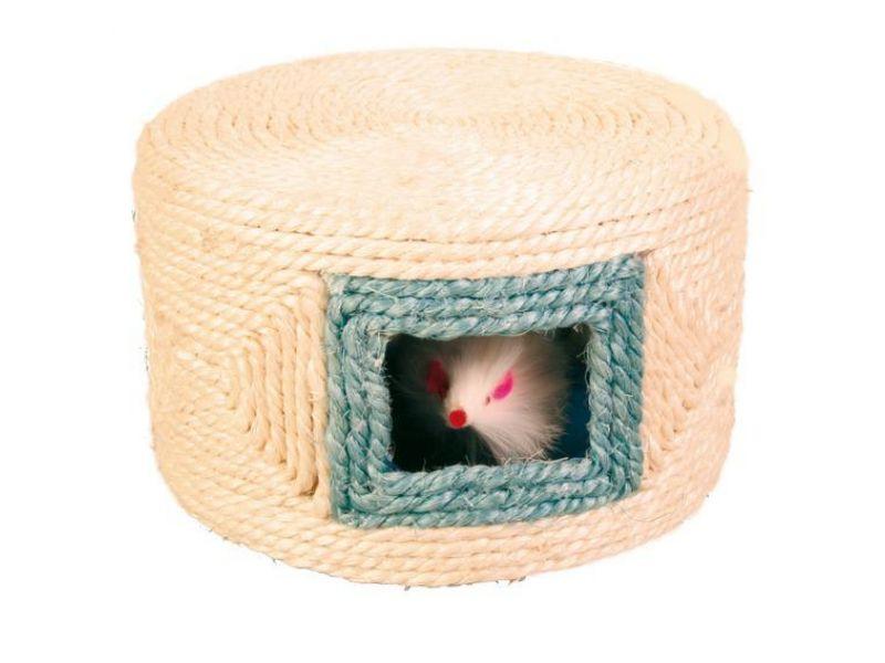 """Игрушка Trixie для кошек - """"Барабан"""", сизаль (4537), 16*10 см  - Фото"""