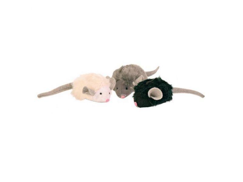 Игрушка Trixie для кошек - 1 мягкая мышка с микрочипом (4199), 6,5 см (пищит при касании) - Фото