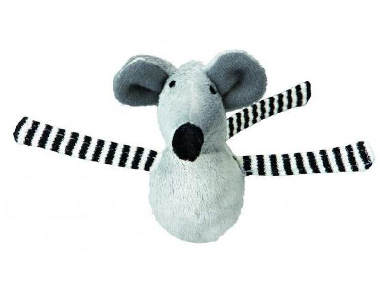 Игрушка Trixie для кошек - 1 Меховая Мышка(4080), 8 см - Фото
