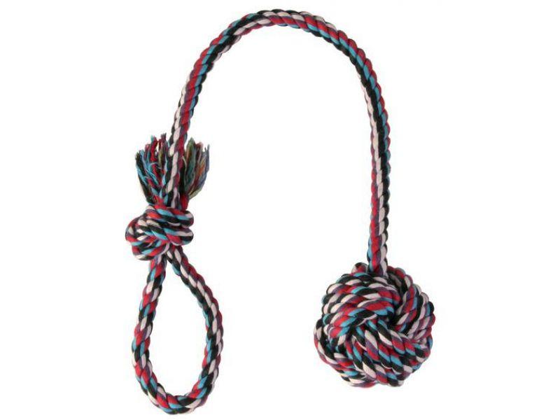 "Trixie Веревка с узлом ""Denta Fun"", для собак (3269), 7 см/50 см - Фото"