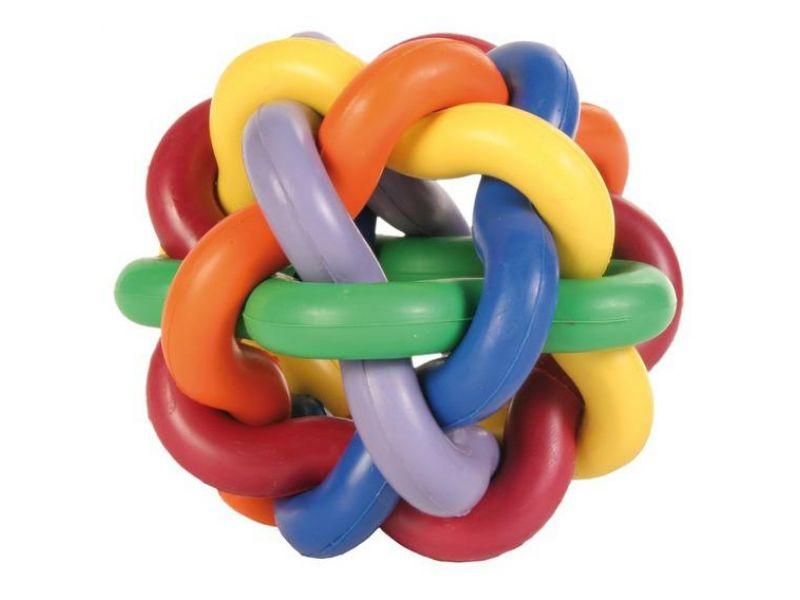 Trixie Мяч плетеный, для собак, каучук (32622), 10 см    - Фото
