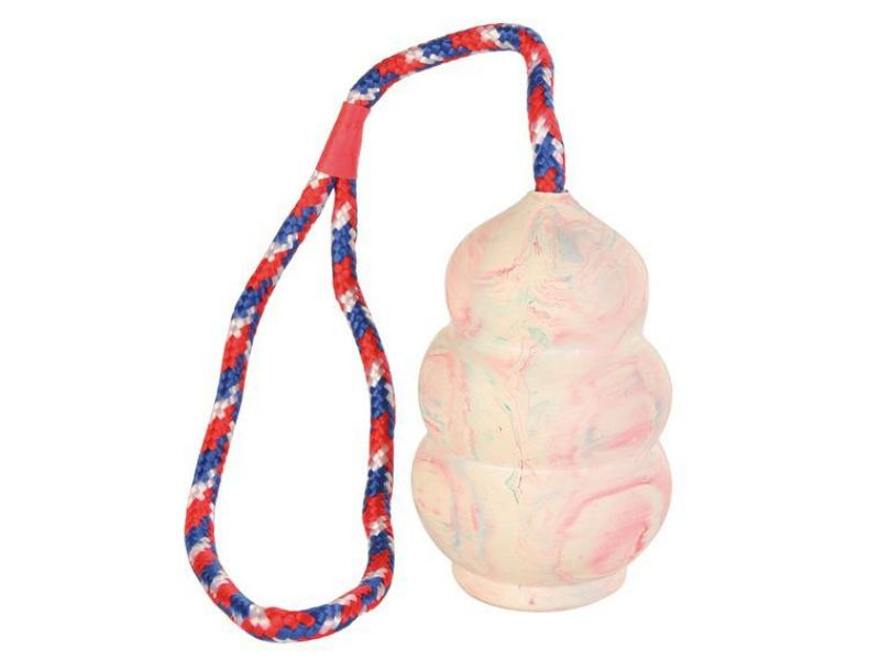 Trixie Игрушка на веревке для собак, натуральный каучук (3306), 8*30 см  - Фото