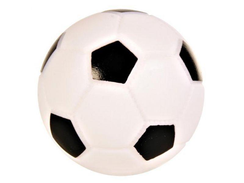 Trixie Мячик футбольный СО ЗВУКОМ для животных, винил (3435), 6 см    - Фото