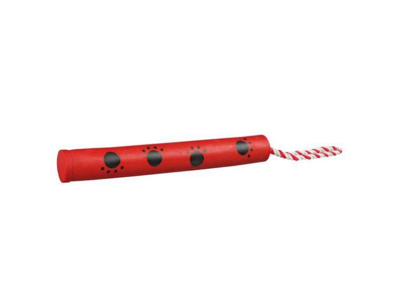 """Trixie Игрушка для собак """"Бита на веревке"""", натуральный каучук (3548), 3*25 см - Фото"""