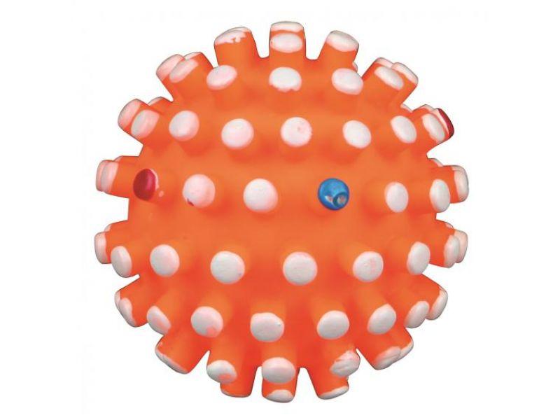 Trixie Мяч игольчатый СО ЗВУКОМ, для собак, винил (3421), 13 см - Фото