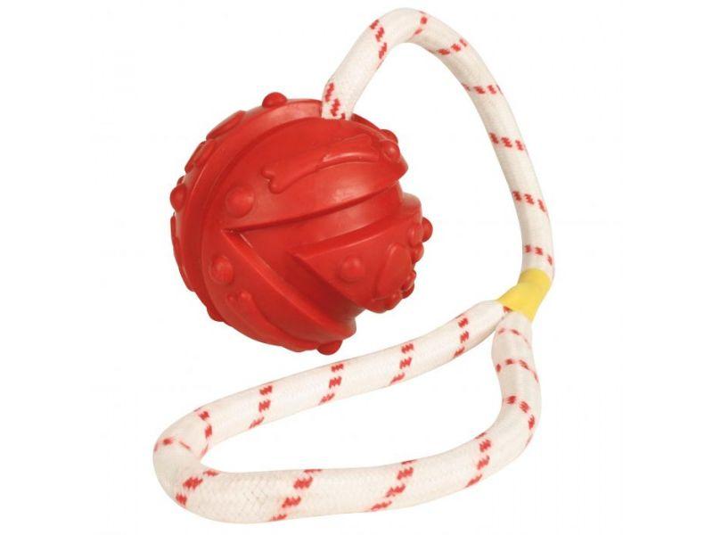 """Trixie Игрушка """"Мяч на веревке"""" для игры на воде, для собак, резина (33481), 4,5*35 см - Фото"""