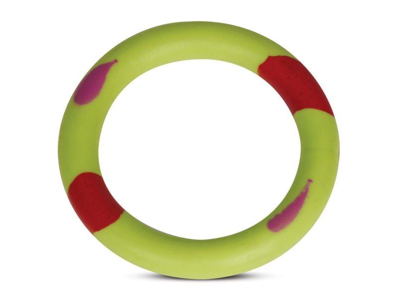 """Triol Игрушка для собак  """"Кольцо пятнистое"""", цельно-литая резина,  11 см   - Фото"""