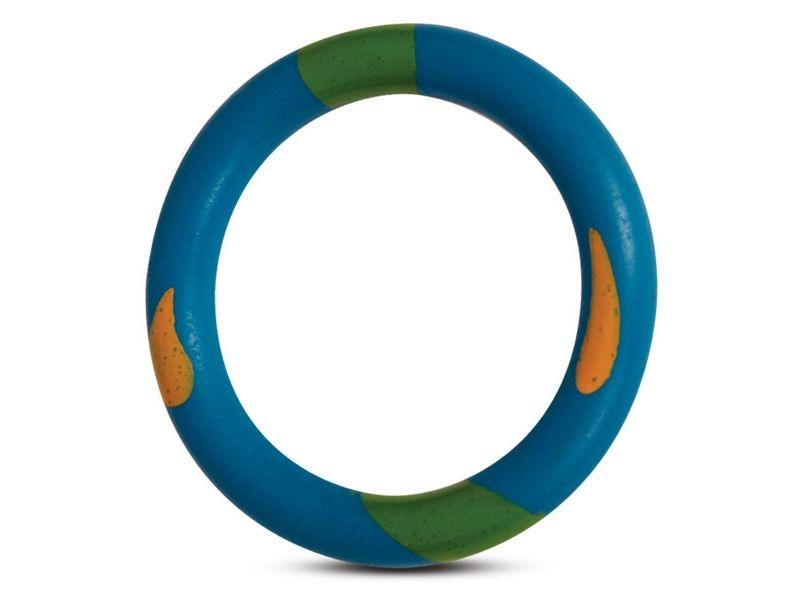 """Triol Игрушка для собак  """"Кольцо пятнистое"""", цельно-литая резина,  14,5 см  - Фото"""