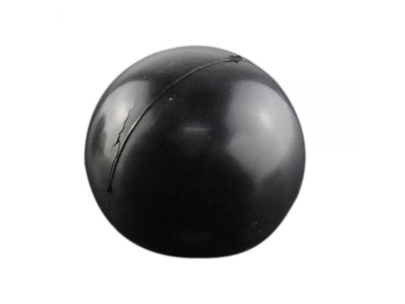 """Зооник  """"Мяч цельнорезиновый черный"""" для собак, 8 см - Фото"""