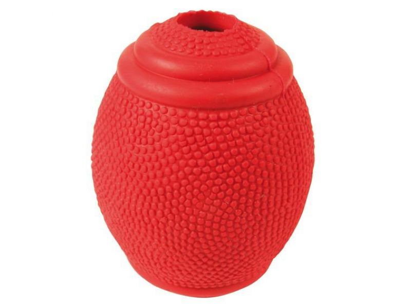 Trixie Мяч-регби с отверстием для лакомств, резина (3323), 8 см    - Фото
