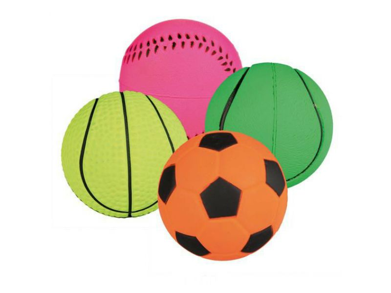 Trixie Мяч для игры на воде неоновый, для собак, мягкая резина (3460), 4 см   - Фото