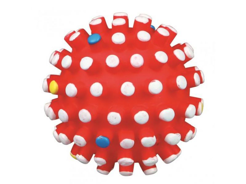 Trixie Мяч игольчатый СО ЗВУКОМ, для собак, винил (3429), 11 см  - Фото