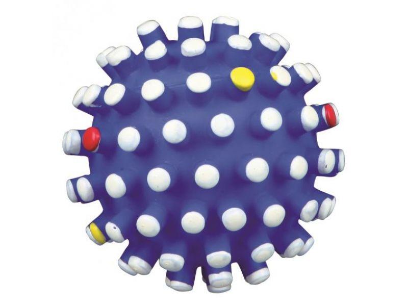 Trixie Мяч игольчатый СО ЗВУКОМ, для собак, винил (3428), 7 см  - Фото