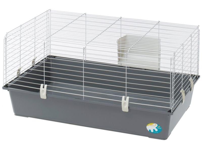 Ferplast Клетка RABBIT 100 NEW (цветная) БЮДЖЕТ, для кроликов и морских свинок (57052370EL), 95*57*46 см - Фото