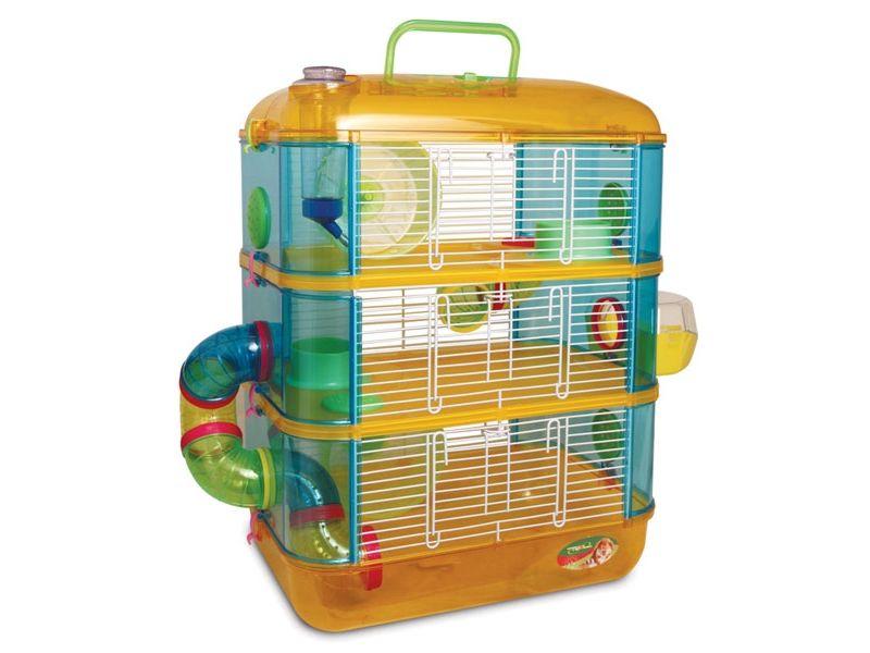 Triol Клетка с переходами, для мелких грызунов, три этажа, 40*26*53 см    - Фото
