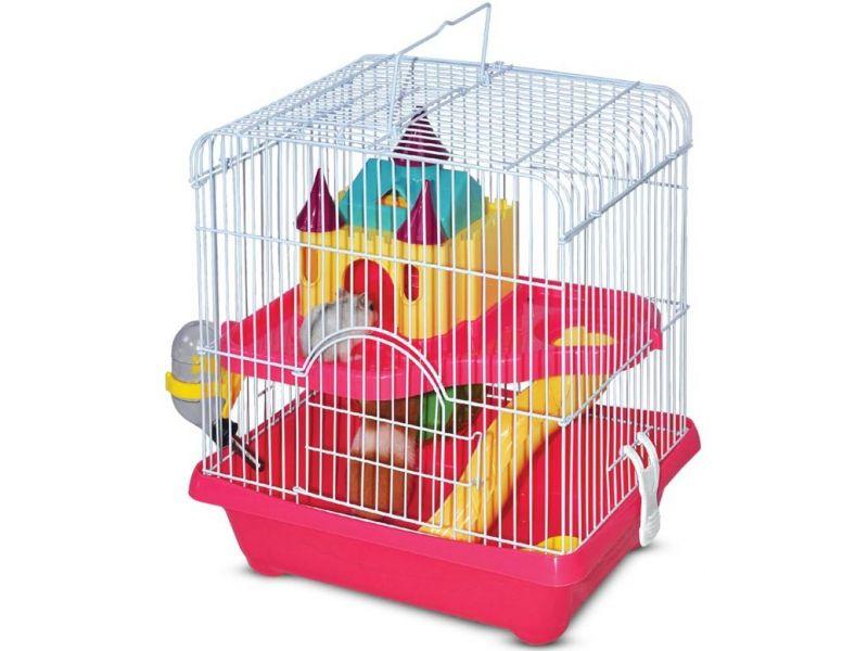 """Triol Клетка """"Замок"""" для мелких грызунов, два этажа, 27,8*20,5*31 см    - Фото"""