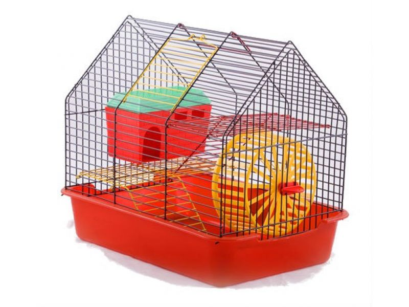 """Вака Клетка для грызунов """"Комфорт-2"""" с домиком, 38,5*27,5*34 см - Фото"""