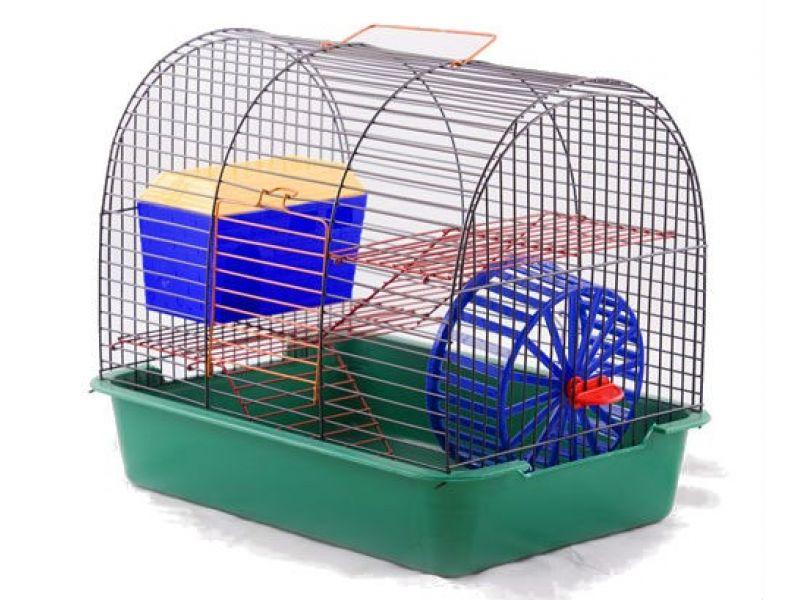 """Вака Клетка для грызунов """"Комфорт-1"""" с домиком, 38,5*27,5*32 см - Фото"""