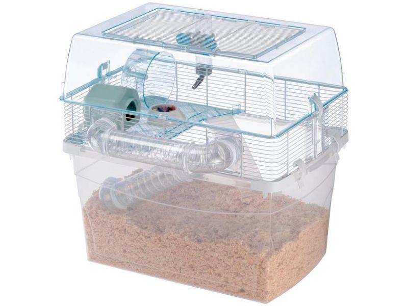 Ferplast Клетка DUNA SPACE, двухэтажная, для джунгариков, песчанок, мышей, крыс и хомяков, 57,5*47,5*54,5 см    - Фото