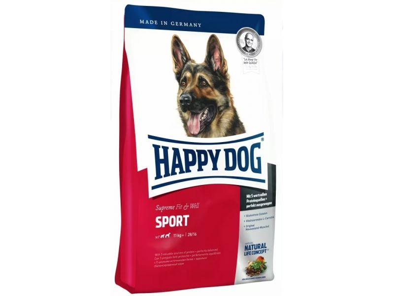 Сухой корм Happy Dog Supreme для СПОРТИВНЫХ, РАБОЧИХ собак, для БЕРЕМЕННЫХ сук (Adult Sport), 15 кг - Фото