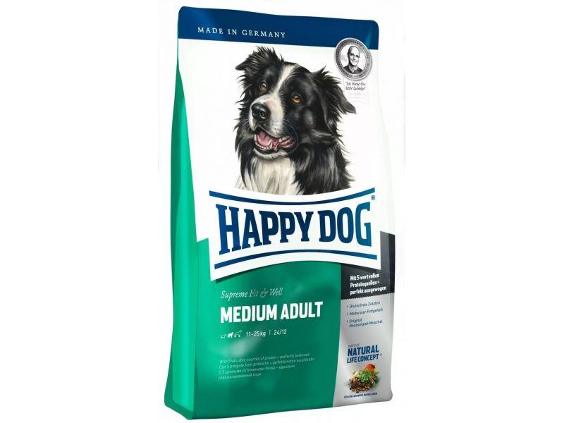 Happy Dog Сухой корм для собак СРЕДНИХ пород - от 11 до 25 кг (Supreme Adult Medium)  - Фото