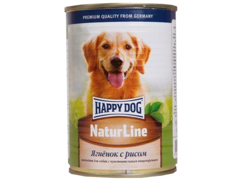 Кусочки в фарше Happy Dog: ЯГНЕНОК и РИС для собак, 400 гр    - Фото