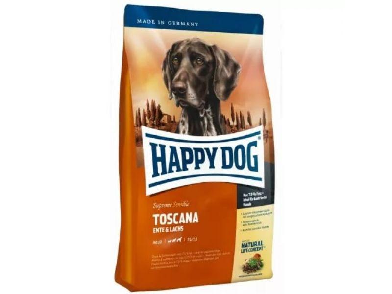 """Сухой корм Happy Dog Supreme """"Тоскана"""" - ЯГНЕНОК + ЛОСОСЬ для ЧУВСТВИТЕЛЬНЫХ собак (Toscana) - Фото"""